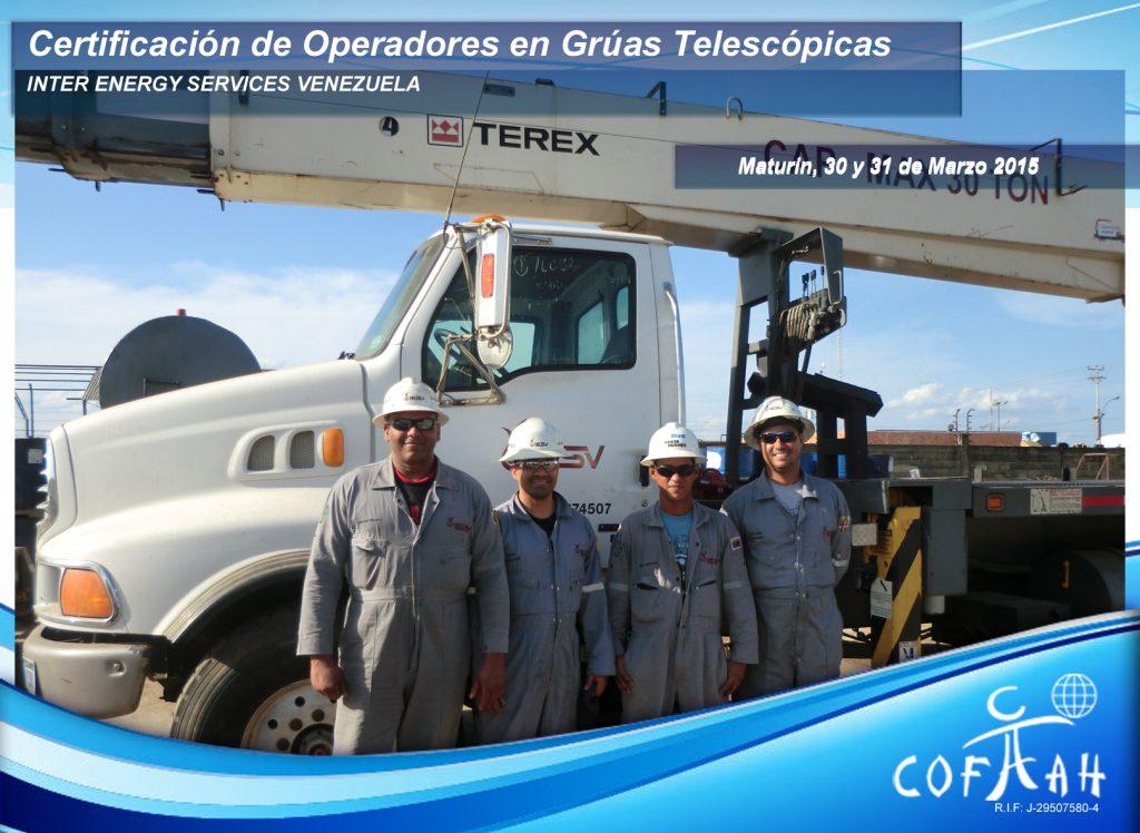 Certificación de Operadores de Grúas Telescópicas (INTER ENERGY SERVICES) Maturín