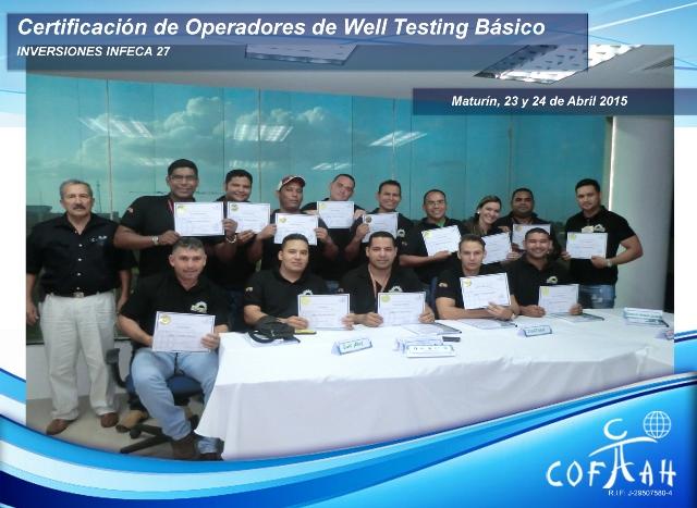 Certificación para Operadores de Well Testing - Basico (INVERSIONES INFECA 27) Maturín