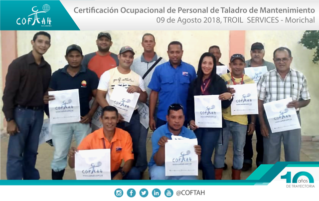 Certificación Ocupacional para Personal de Taladros de Matenimiento (TROIL Services) Morichal