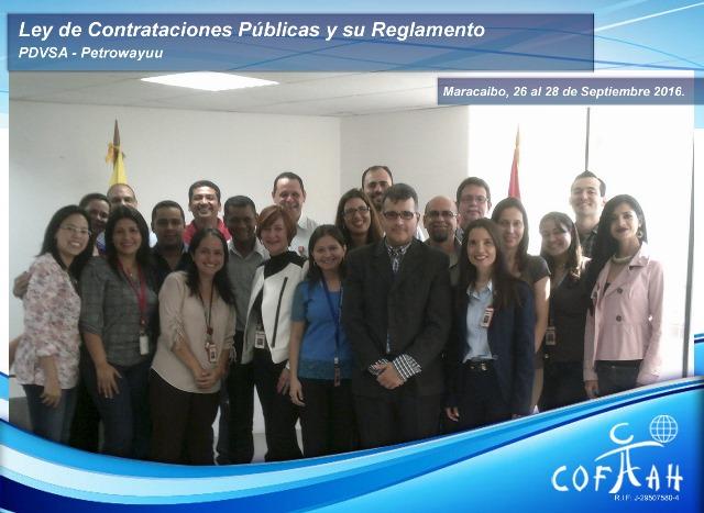 Ley de Contrataciones Públicas y su Reglamento (PDVSA Petrowayuu) Maracaibo