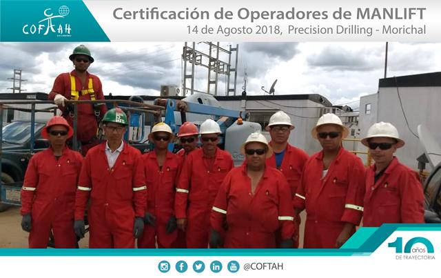 Certificación de Operadores de Manlift (Precision Drilling - ROSNEFT) Morichal