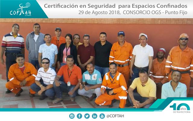 Certificación en Seguridad para Espacios Confinados (OGS) Punto Fijo