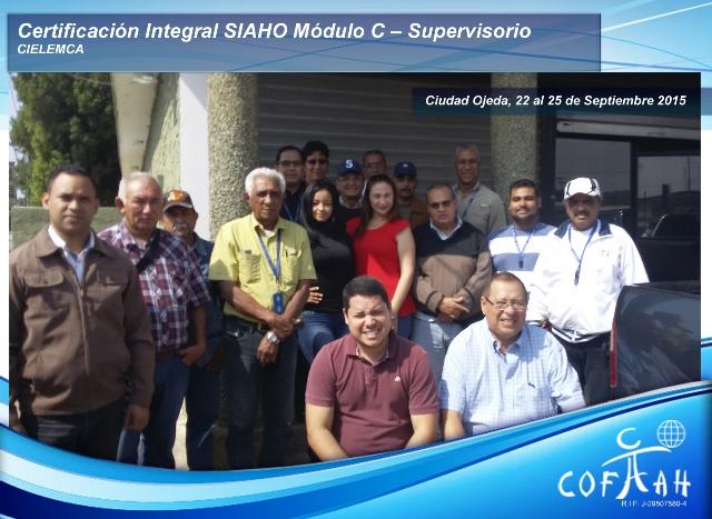 Certificación Integral SIAHO Módulo C - Supervisorio (CIELEMCA) Ciudad Ojeda