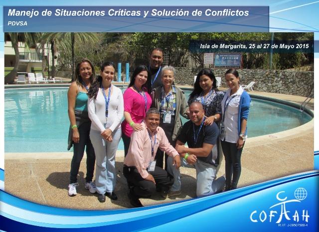 Manejo de Situaciones Críticas y Solución de Conflictos (PDVSA) Isla de Margarita