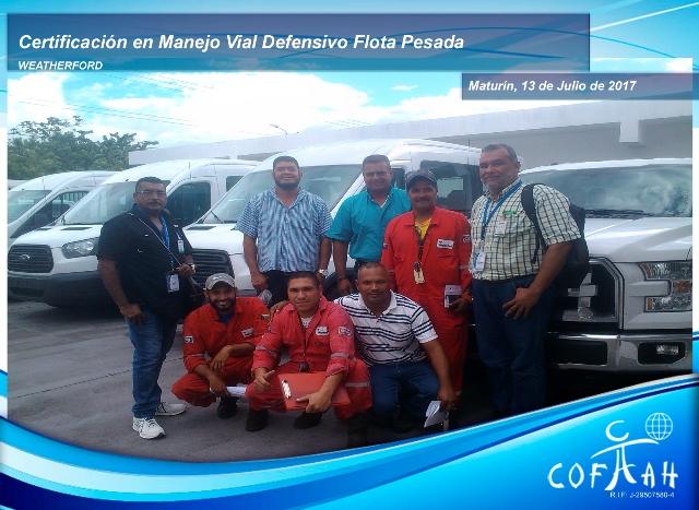 Re-Certificación en Manejo Vial Defensivo – Flota Pesada (WEATHERFORD) Maturín