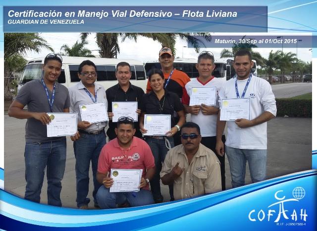 Certificación en Manejo Vial Defensivo - Flota Livina (GUARDIAN) Maturín