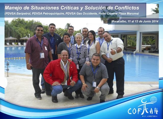 Manejo de Situaciones Críticas y Solución de Conflictos (PDVSA) Maracaibo