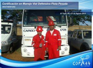 Certificación en Manejo Vial Defensivo - Flota Pasada (WEATHERFORD) El Tigre