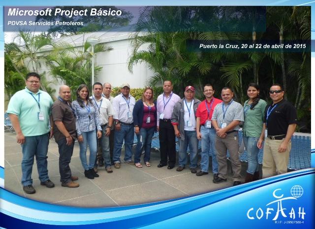 Microsoft Project Básico (PDVSA Servicios Petroleros) Pto. La Cruz