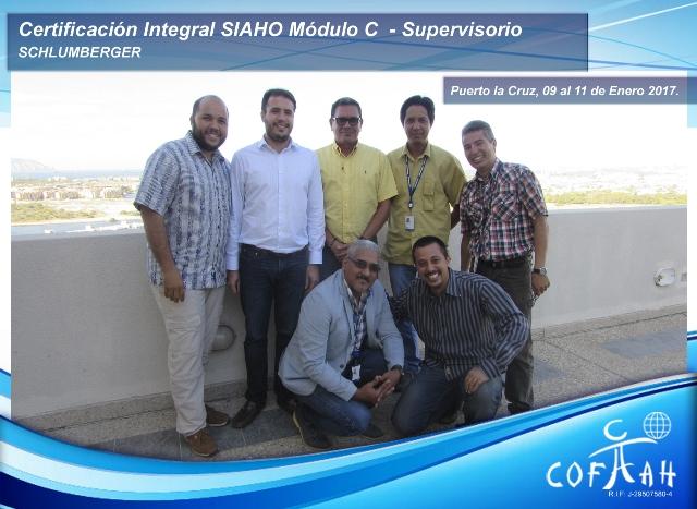 Certificación Integral SIAHO Módulo C - Supervisorio (SCHLUMBERGER) Puerto La Cruz