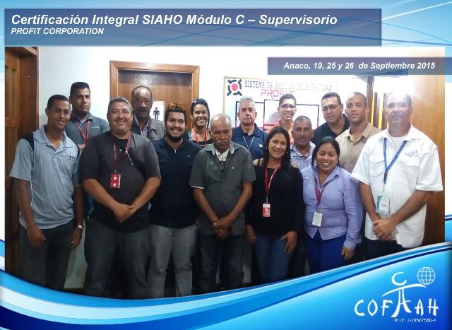 Certificación Integral SAHO Módulo C - Supervisorio (PROFIT Corporation) Anaco