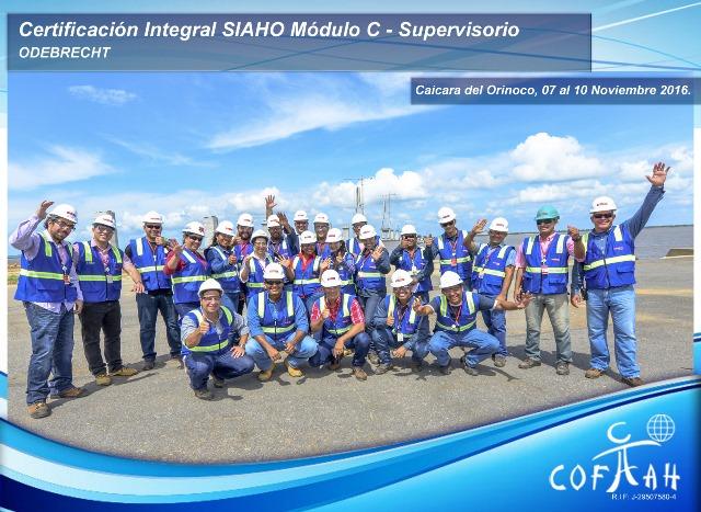 Certificación Integral SIAHO Módulo C – Supervisorio (ODEBRECHT) Caicara del Orinoco