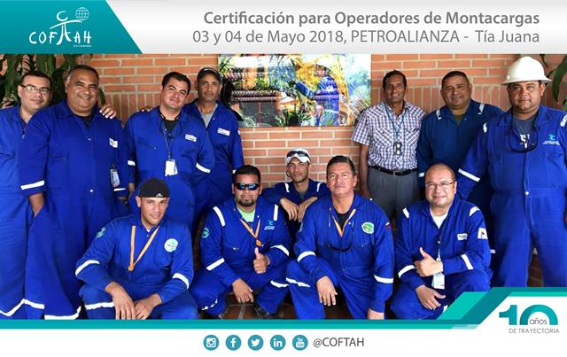 Certificación de Operadores de Montacargas (PETROALIANZA) Tia Juana