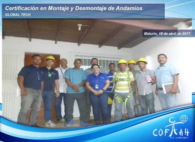 Certificación en Montaje y Desmontaje de Andamios (GLOBAL TECH) Maturín