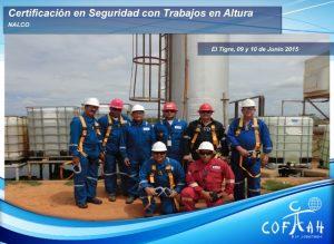 Certificación en Seguridad con Trabajos en Altura (NALCO) El Tigre