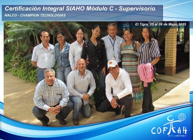 Certificación Integral SIAHO Módulo C - Supervisorio (NALCO y CHAMPION TECNOLOGIAS) El Tigre