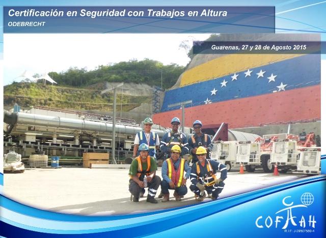 Certificación en Seguridad con Trabajos en Altura (ODEBRECHT) Guarenas