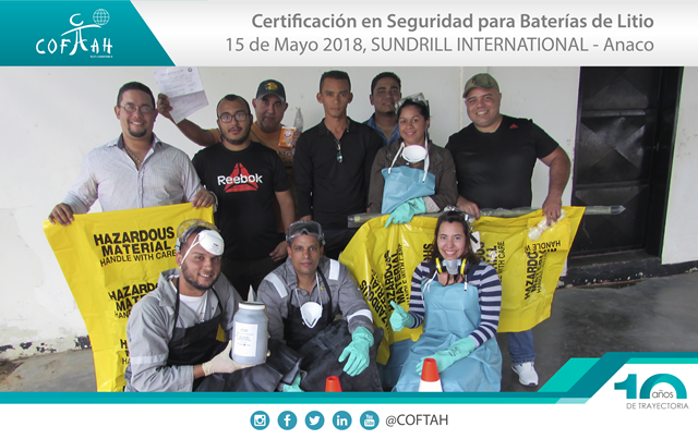 Certificación en Seguridad para Baterías de Litio (SUNDRILL) Anaco