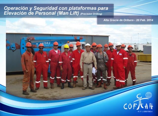 Certificación Operadores con plataformas para Elevación de Personal (Precision Drilling) Altagracia de Orituco