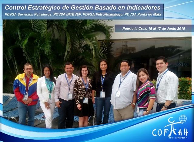 Control Estratégico de Gestión basado en Indicadores (PDVSA) Puerto La Cruz