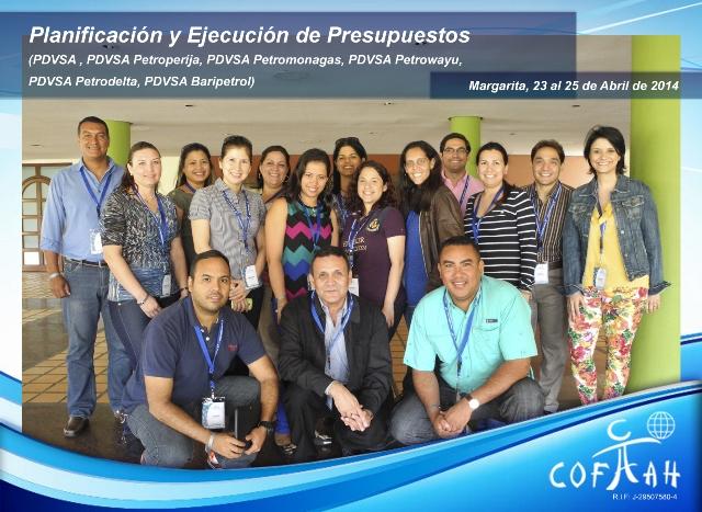 Planificación y Ejecución de Presupuestos (PDVSA Varios ) Isla de Margarita