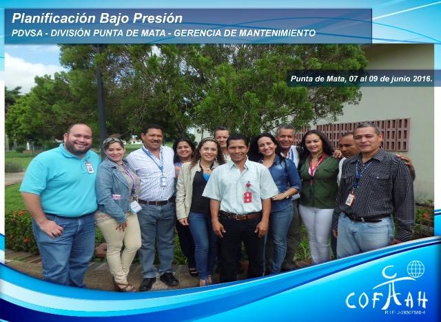 Planificación Bajo Presión (PDVSA) Punta de Mata