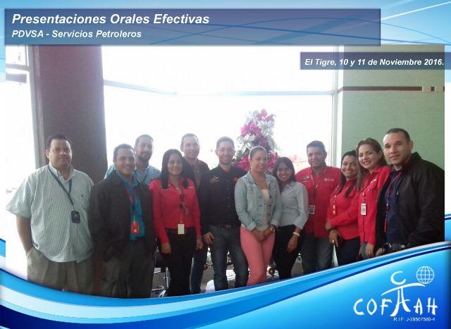 Presentaciones Orales Efectivas (PDVSA Servicios Petroleros) El Tigre