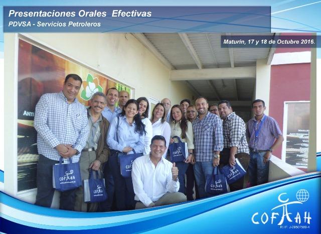 Presentaciones Orales Efectivas (PDVSA Servicios Petroleros) Maturín
