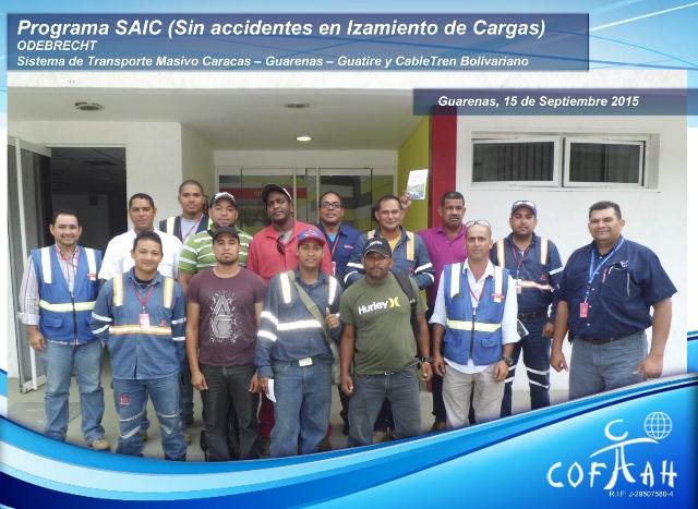 Programa SAIC Sin Accidentes en Izamiento de Cargas (ODEBRECHT) Guarenas