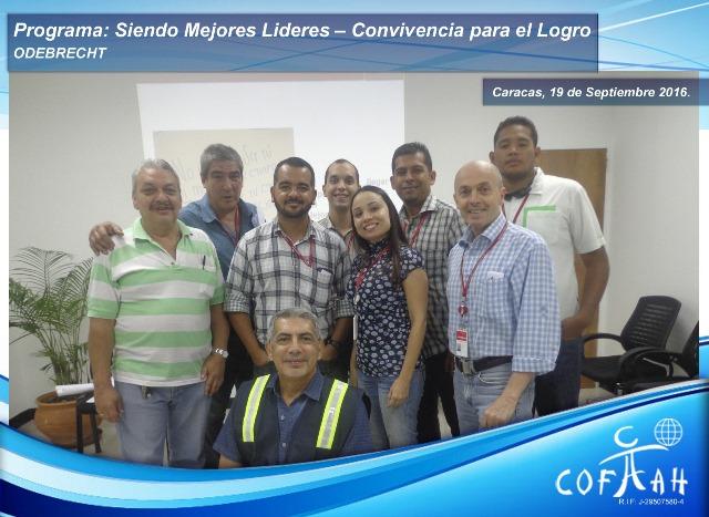 Programa: Siendo Mejores Líderes – Módulo Convicencia para el Logro – Unidad (ODEBRECHT) Caracas