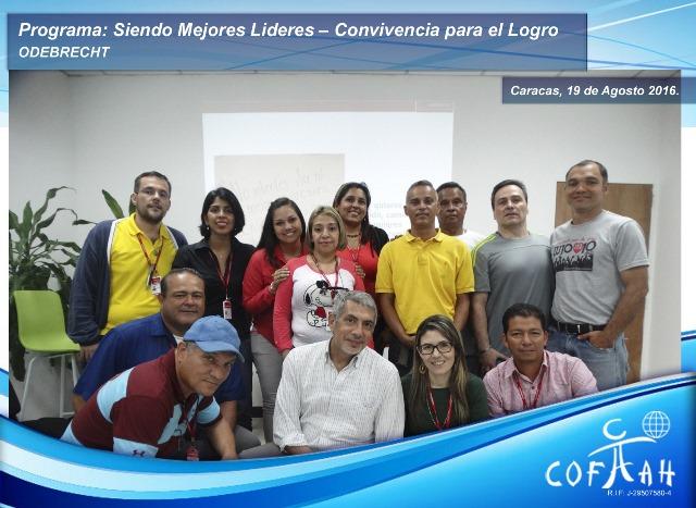 Programa: Siendo Mejores Líderes – Módulo Convivencia para El Logro (ODEBRECHT) Caracas