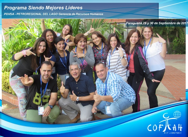 Programa Siendo Mejores Líderes (PDVSA Petroregional) Paraguaná