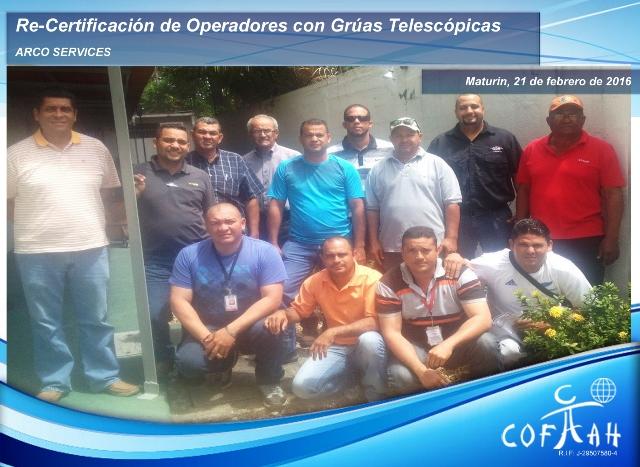 Re-Certificación de Operadores de Grúas Telescópicas (ARCO Services) Maturín -