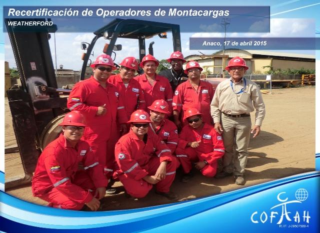 Re-Certificación para Operadores de Montacargas (WEATHERFORD) Anaco