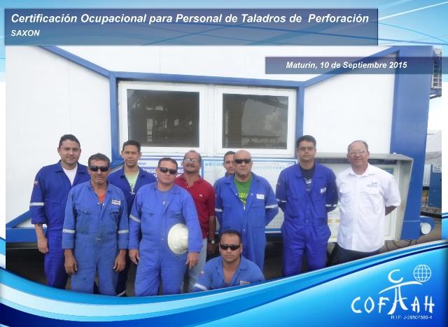 Certificación Ocupacional para Personal de Taladros de Perforación (SAXON) Maturín