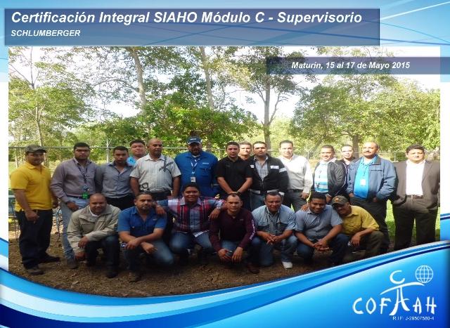 Certificación Integral SIAHO Módulo C - Supervisorio (SCHLUMBERGER) Maturín