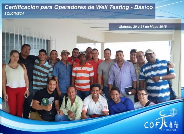 Certificación Operadores de Well Testing - Básico (SOLCIMECA) Maturín