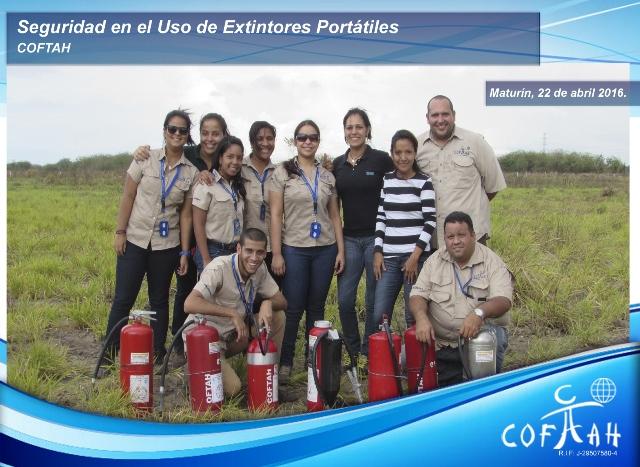 Seguridad en el Uso de Extintores Portátiles (COFTAH ) Maturín