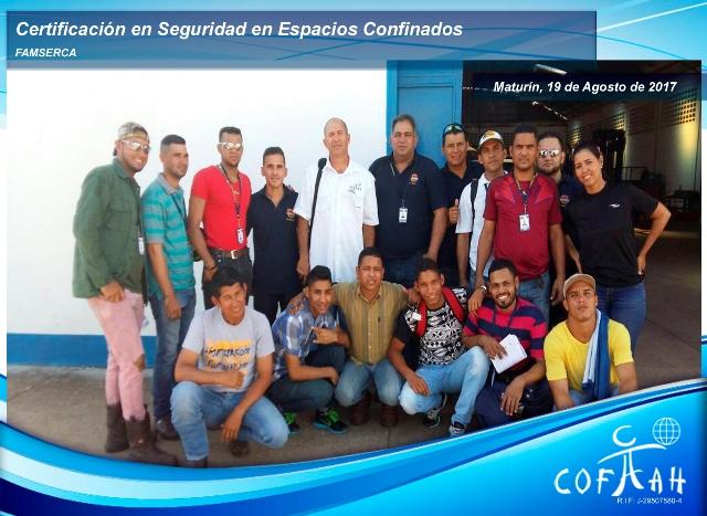 Certificación en Seguridad en Espacios Confinados (FAMSERCA) Maturín