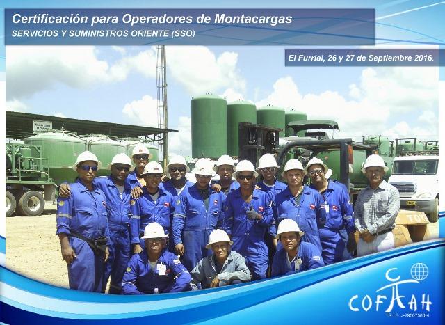 Certificación para Operadores de Montacargas (SSO) El Furrial