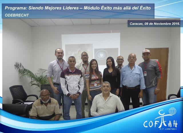 Programa: Siendo Mejores Líderes – Módulo Exito más allá del Exito (ODEBRECHT) Caracas
