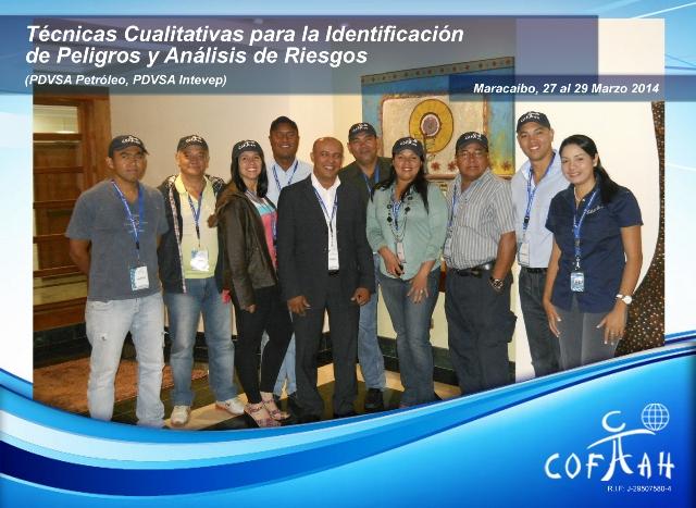 Técnicas cualitativas para la Identificación de Peligros y Análisis de Riesgos (PDVSA) Maracaibo