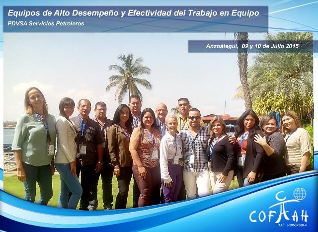 Equipos de Alto Desempeño y Efectividad del Trabajo en Equipo (PDVSA) Puerto La Cruz