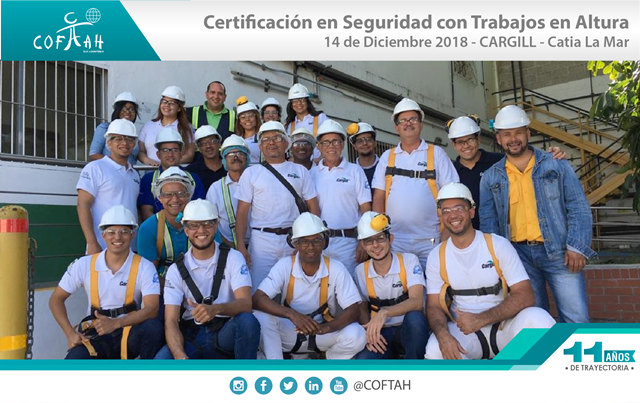 Certificacion en Seguridad con Trabajos en Altura (CARGILL) Catia La Mar