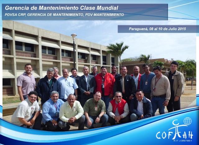 Gerencia de Mantenimiento Clase Mundial (PDVSA CRP) Paraguaná