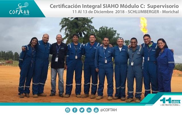 Certificación Integral SIAHO Módulo C - Supervisorio (SCHLUMBERGER) Morichal