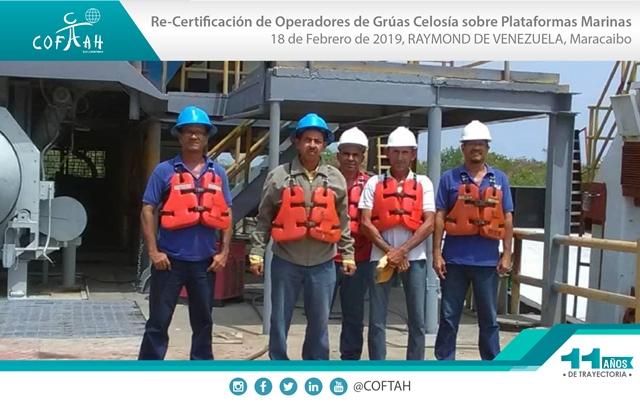Re-Certificación de Operadores de Grúas de Celosía sobre Plataformas Marinas (RAYMOND) Maracaibo
