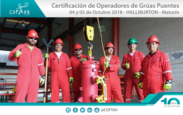 Certificación de Operadores de Grúas Puentes (HALLIBURTON) Maturín
