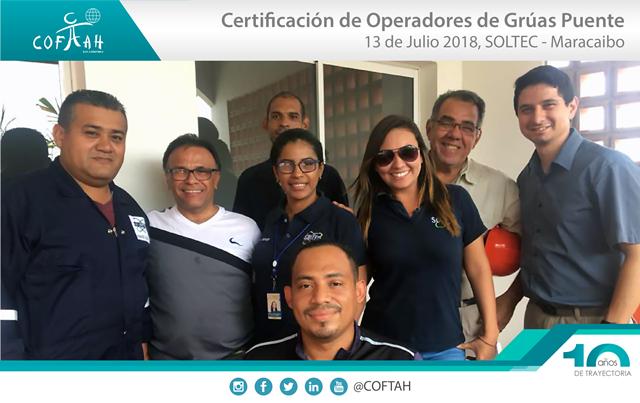 Certificación de Operadores de Grúas Puentes (SOLTEC) Maracaibo
