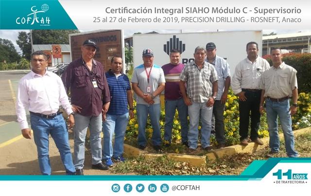 Certificación Integral SIAHO Módulo C - Supervisorio (PRECISION DRILLING - ROSNEFT) Anaco